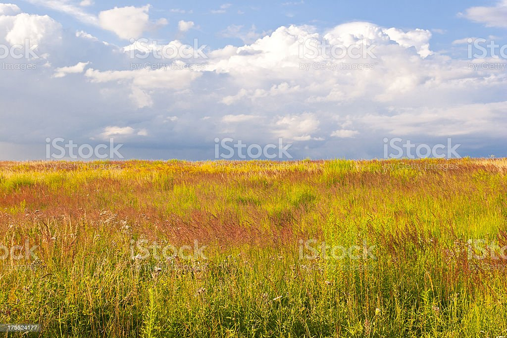 Vast Country at Sunset stock photo