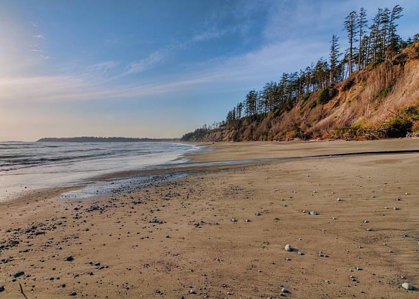 Vast Empty Beach With Pebbles stock photo