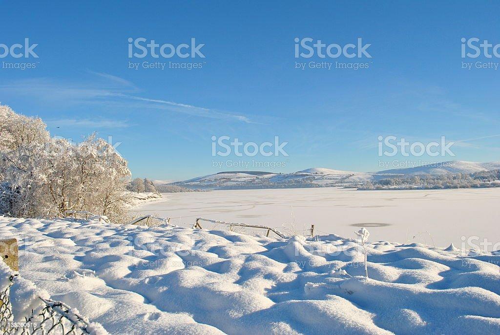 vast expance of frozen water in wicklow ireland stock photo