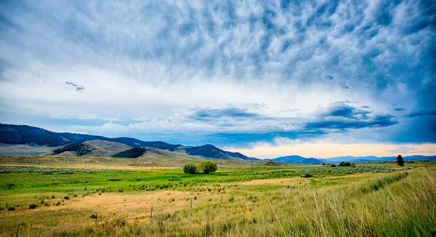 vast scenic montana state landscapes and nature stock photo