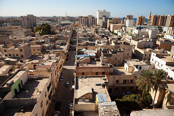 Vast view of the Tripoli skyline in Libya stock photo
