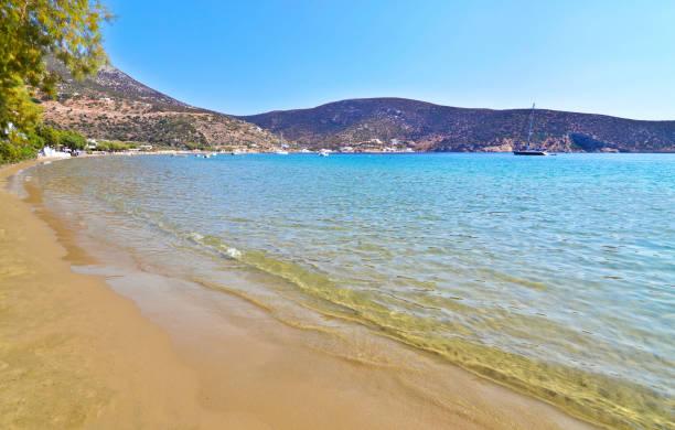 Vathi beach Sifnos Greece stock photo