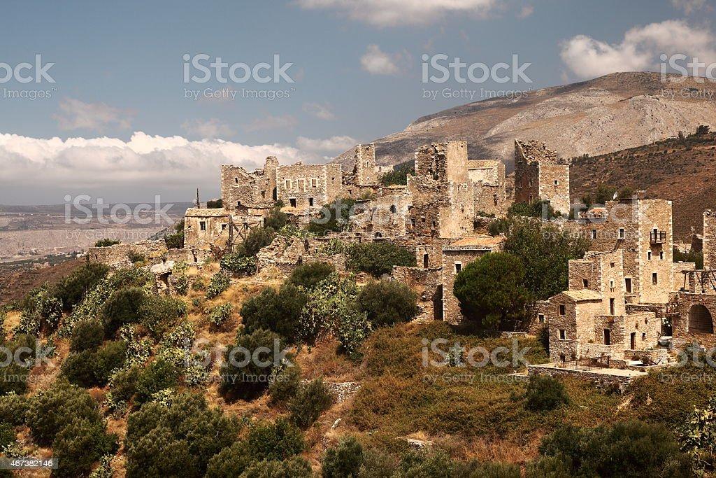 Vathia in Greece stock photo