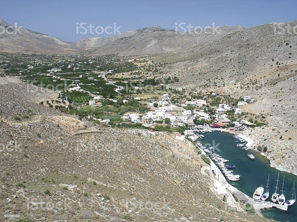Vathys, Kalymnos royalty-free stock photo