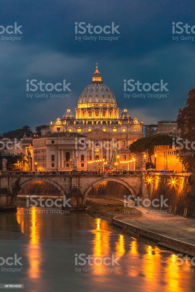 Vatican and river Tiber in Rome stock photo