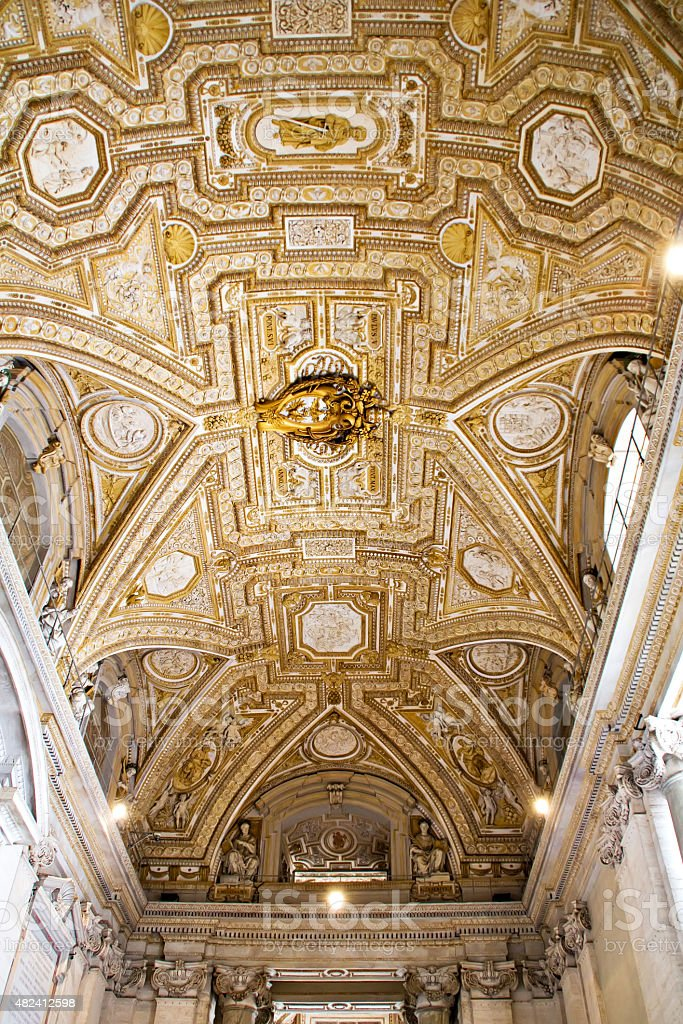 Vatican ceiling stock photo