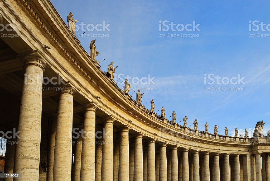 vatican city - colonnades royalty-free stock photo