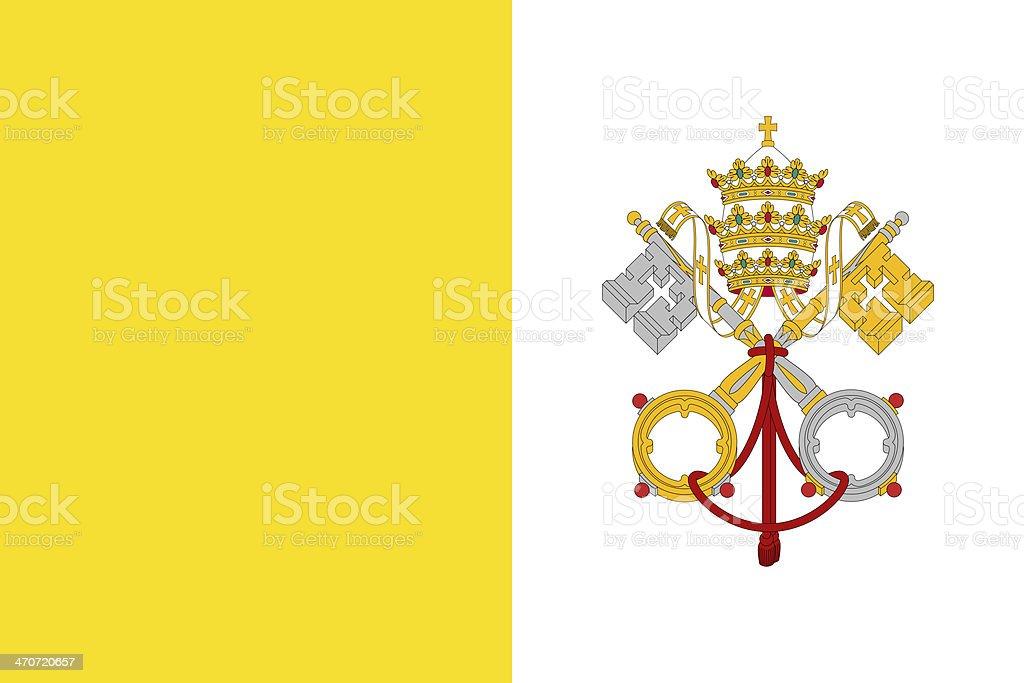 Vatican City Flag stock photo