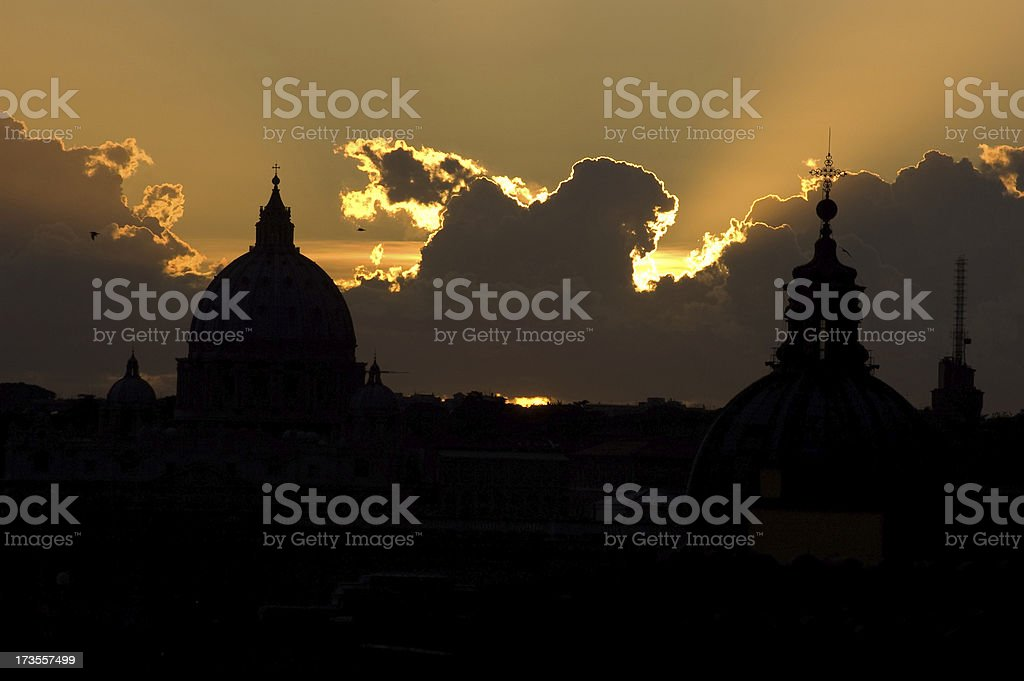 Vatican Clouds royalty-free stock photo