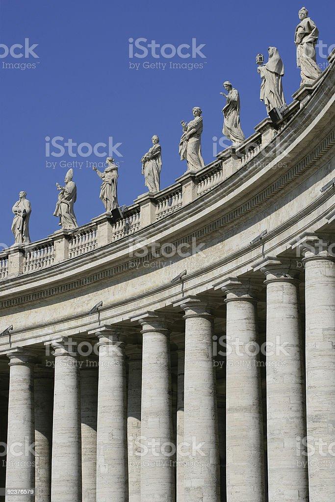 Vatican columns royalty-free stock photo