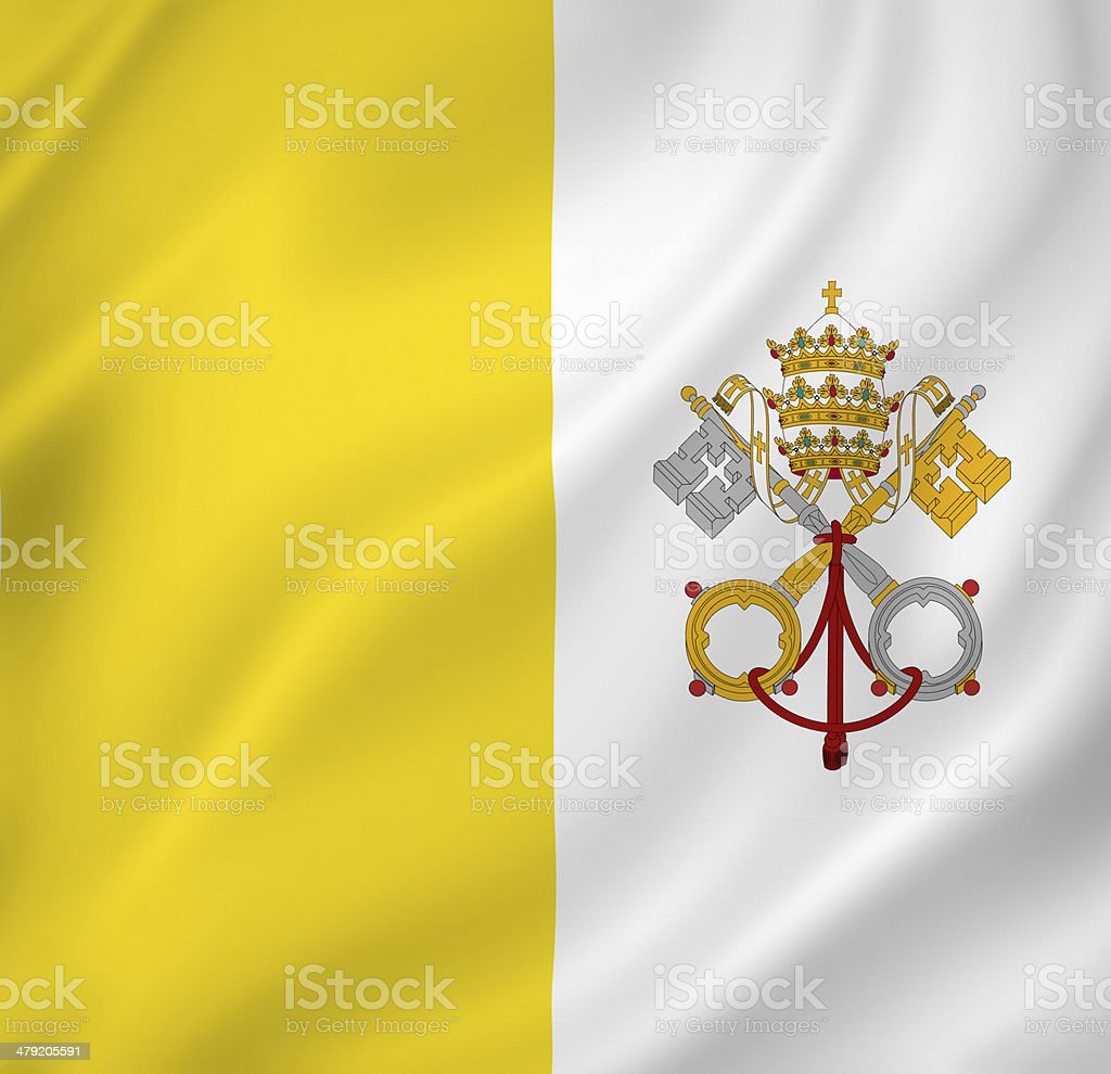 Vatican flag stock photo
