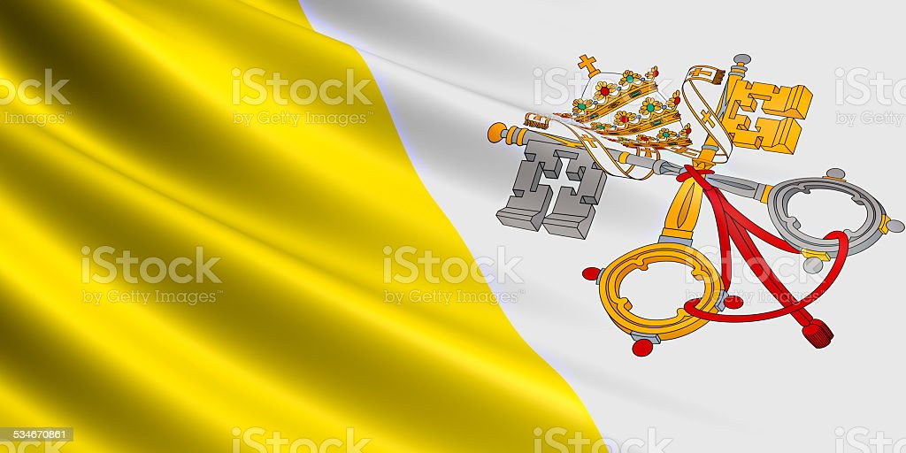 Vatican flag. stock photo