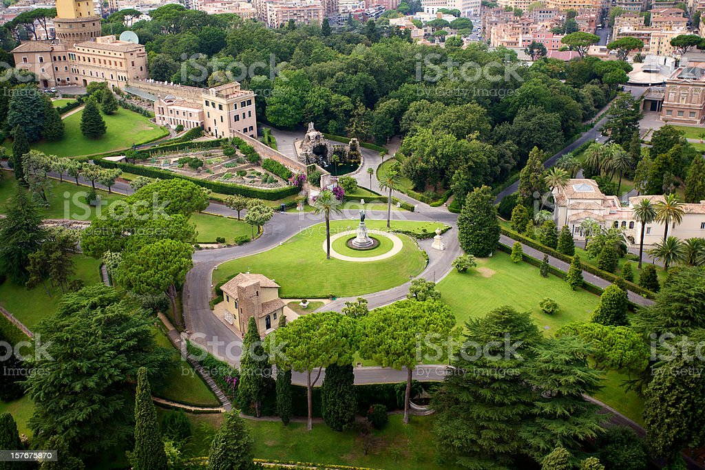 Vatican Gardens royalty-free stock photo
