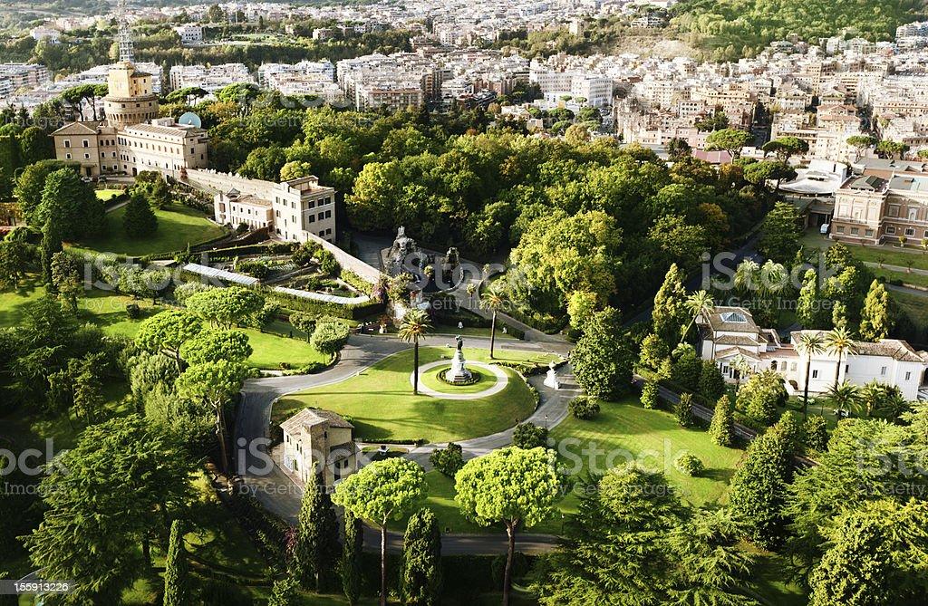 Vatican Gardens, Rome stock photo
