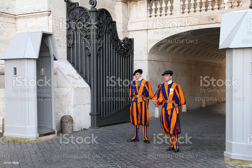 Vatican guards stock photo