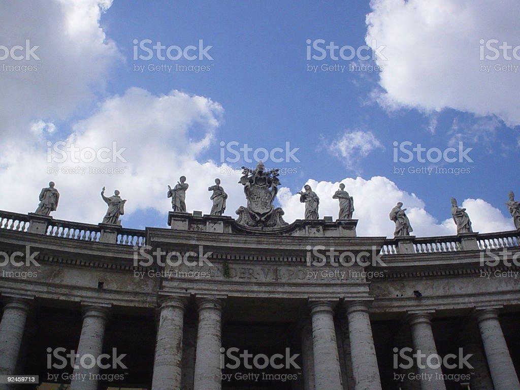 Vatican monument stock photo