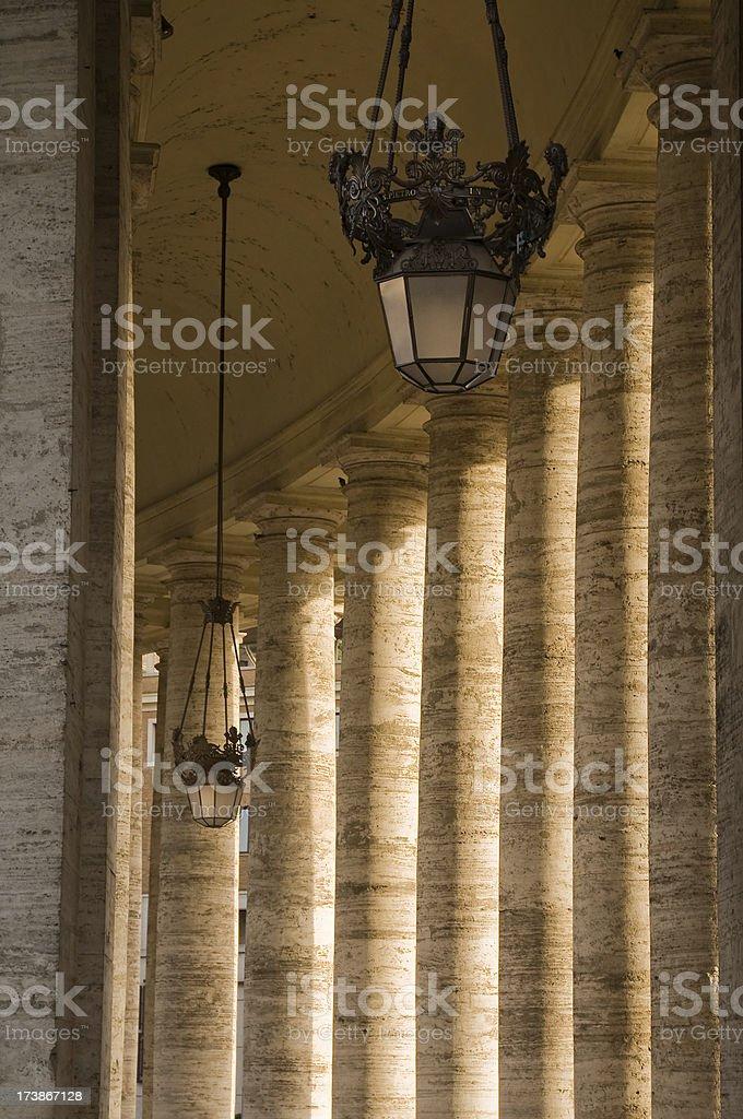 Vatican Roman column in Rome stock photo