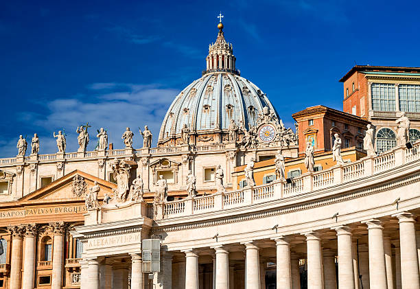 vatican, rome, italy - peter the apostle stock photos and pictures