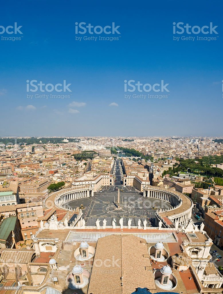 Vatican vista, Rome royalty-free stock photo
