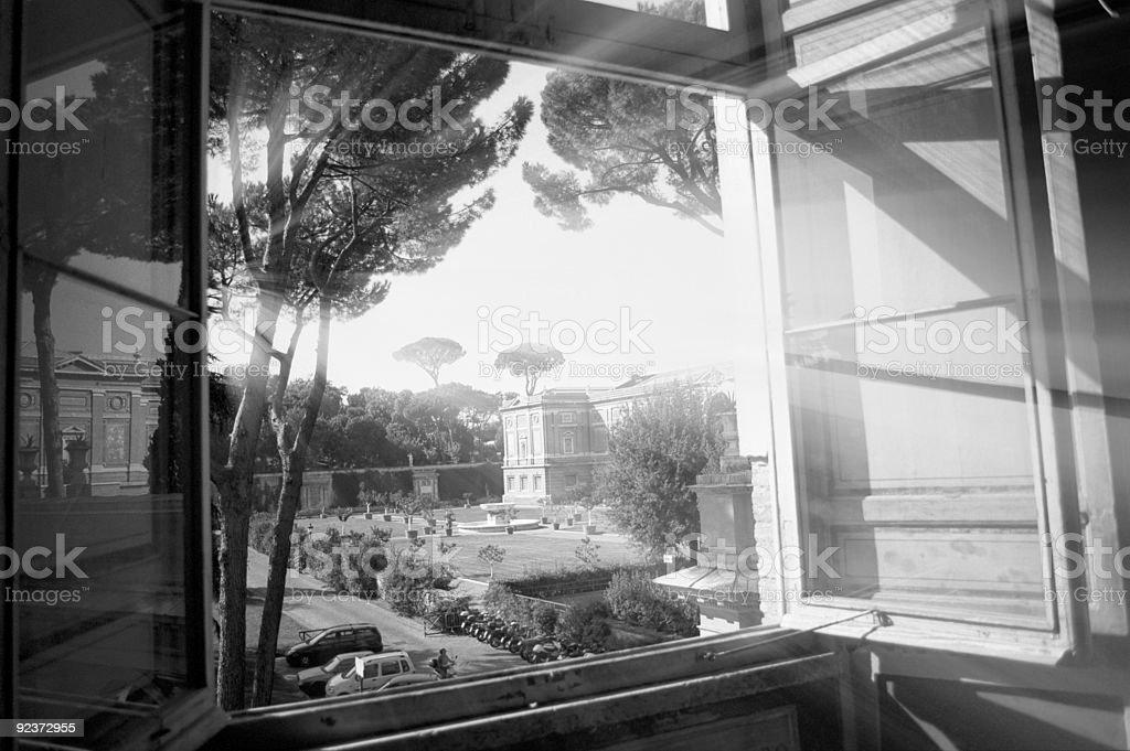 Vatican window royalty-free stock photo
