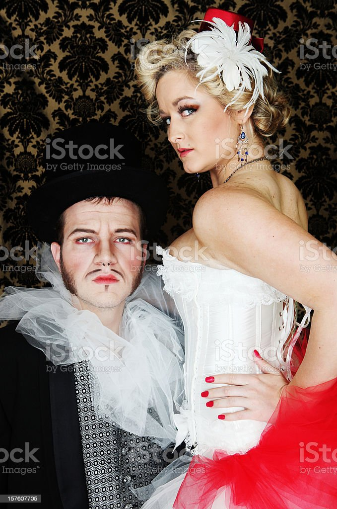 vaudvillian couple stock photo