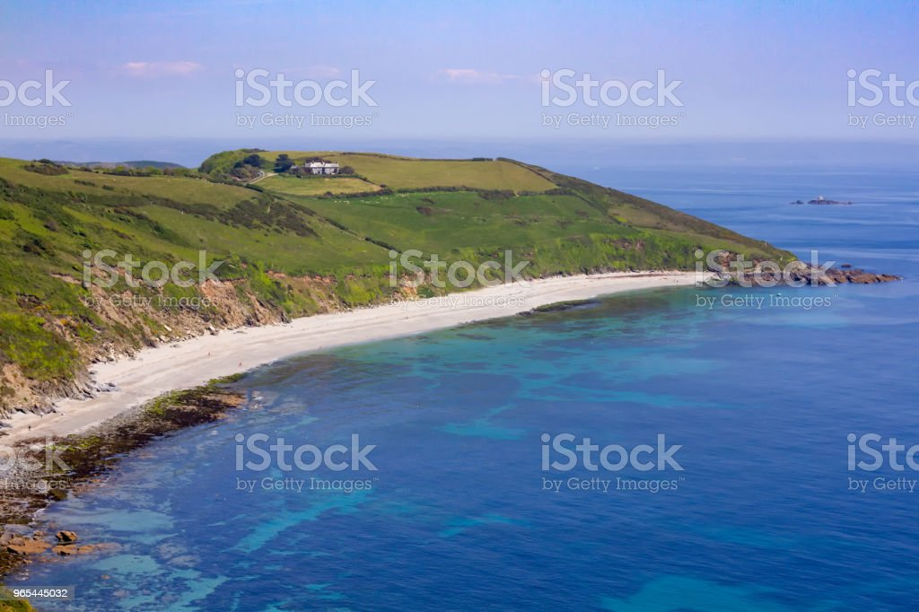 Vault Beach on a beautiful summer day in Cornwall royalty-free stock photo