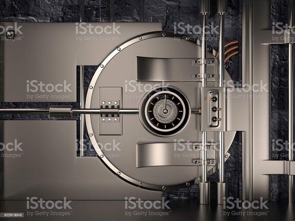 Photo de stock de Porte De Chambre Forte 3d images libres de droit ...