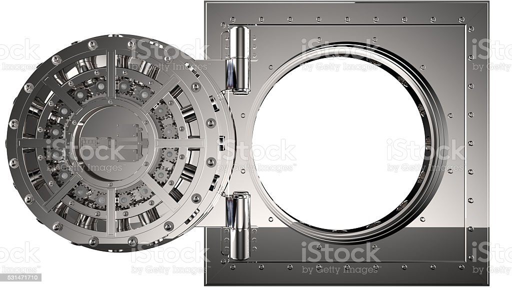 Vault door. 3D stock photo