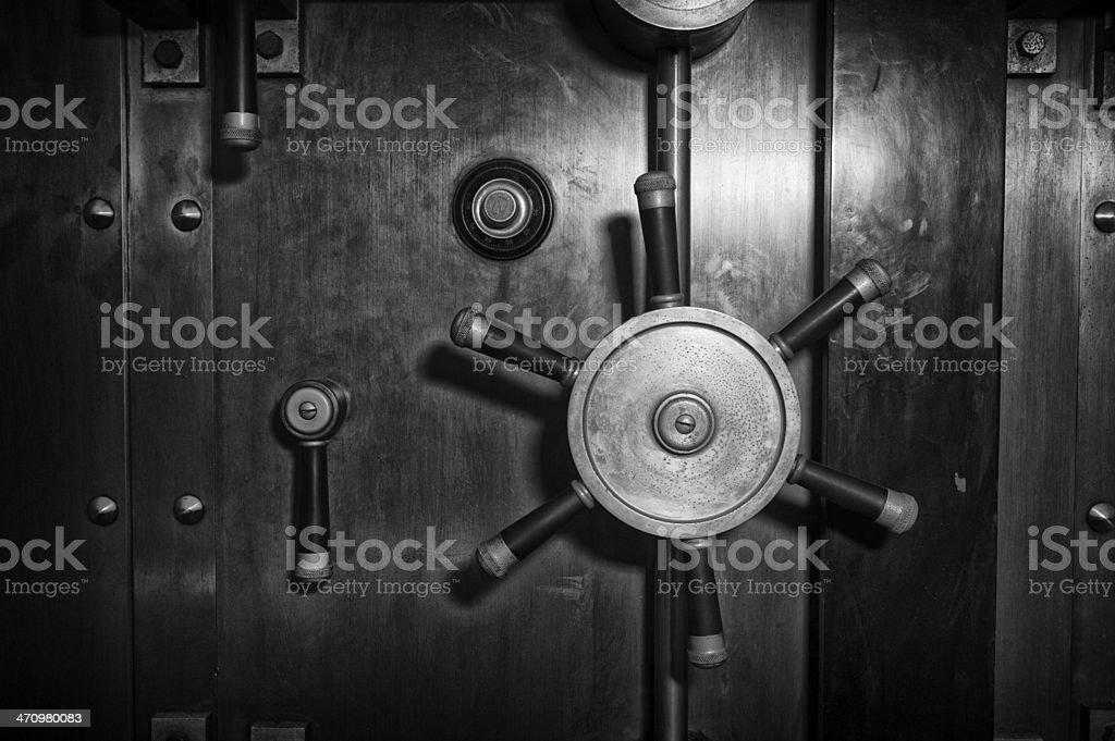 Vault Door - Black and White stock photo