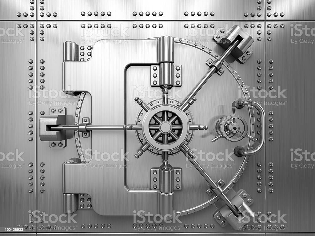 Vault Door stock photo