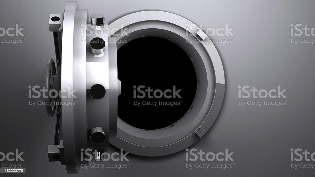 Vault open stock photo
