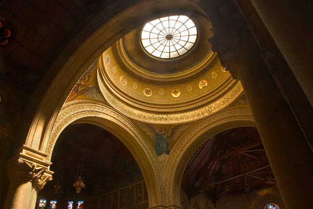 Vaulted chapel stock photo