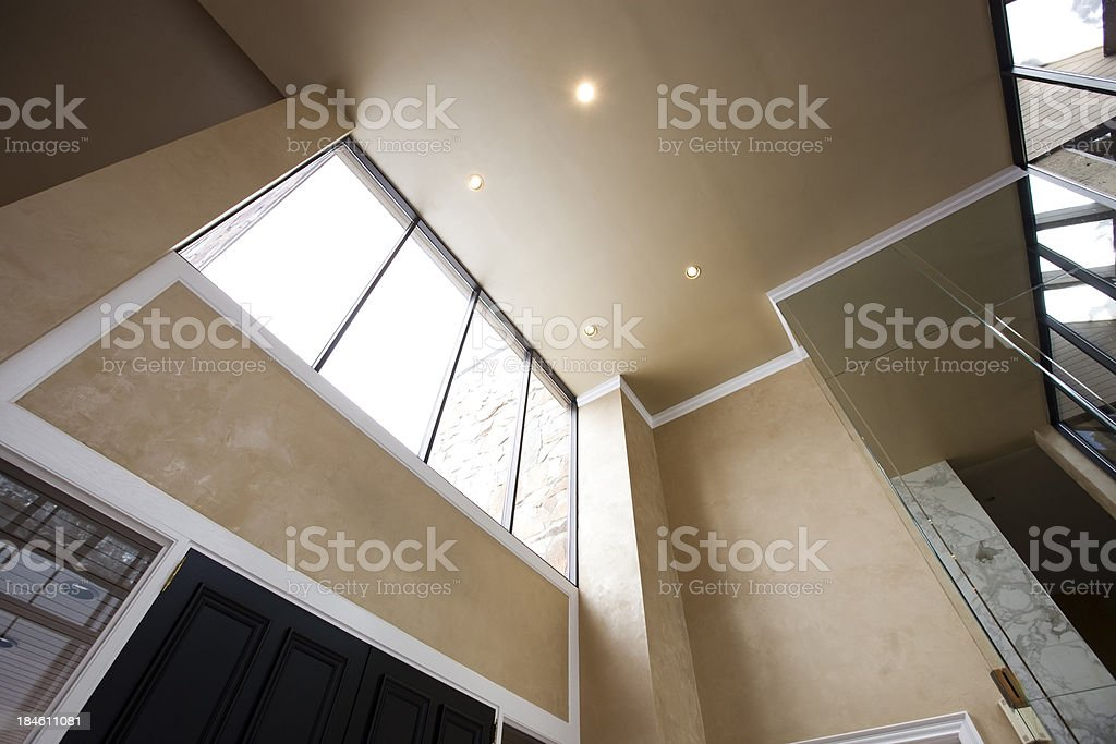 Vaulted Interior Celiling with Texured Walls royalty-free stock photo