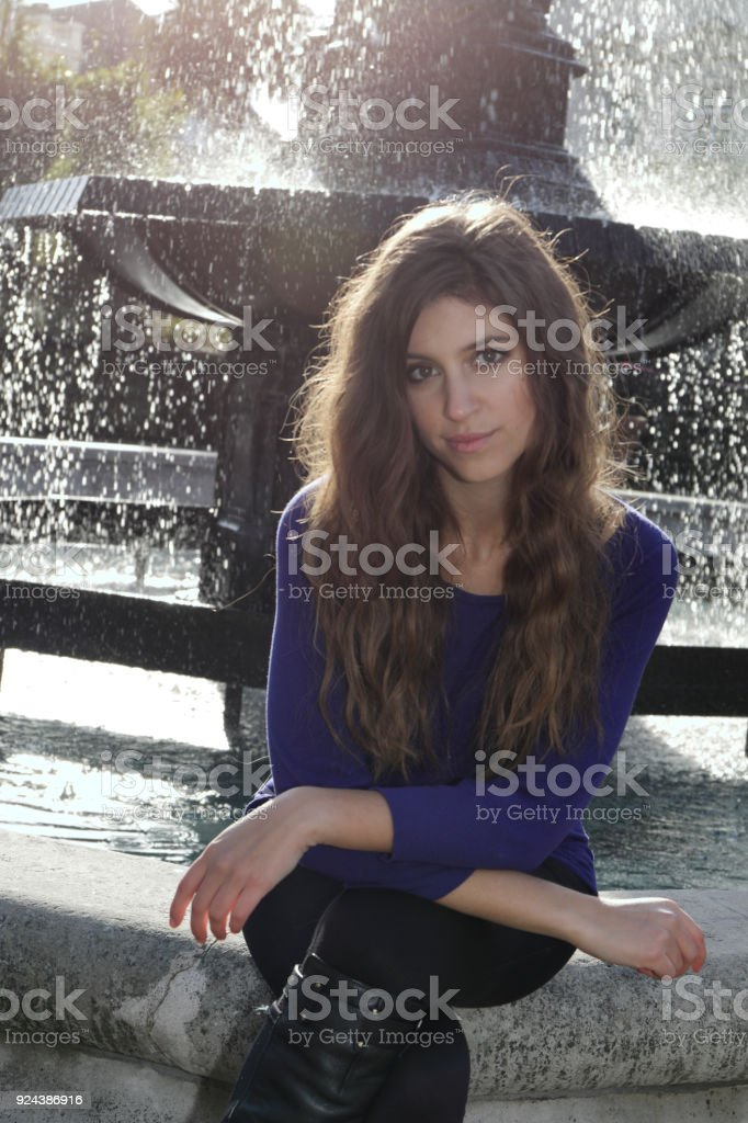Vauxhall Pleasure Gardens beautiful Russian outdoor girl stock photo