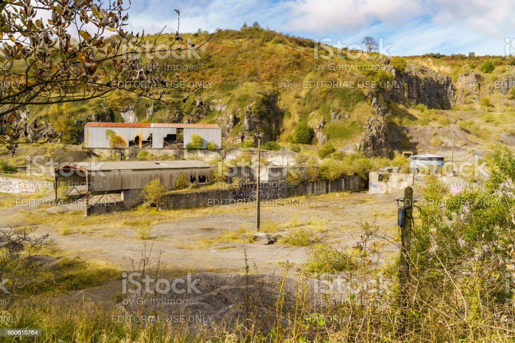 Vaynor Quarry, Merthyr Tydfil, Mid Glamorgan, Wales, UK stock photo