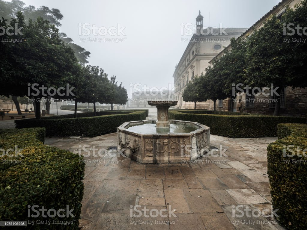 Vazquez de Molina townsquare in Ubeda Andalusia Spain stock photo
