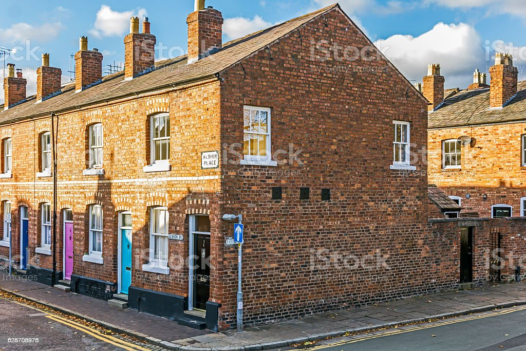 Vctorian Terraced Houses Chester stock photo