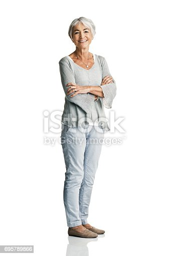 istock I've always believed in facing life with one big smile 695789866