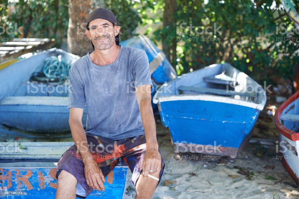 I've been fishing for my whole life stock photo