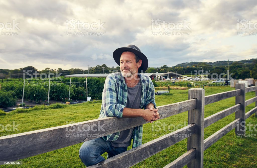 I've been in the farming trade for years stock photo