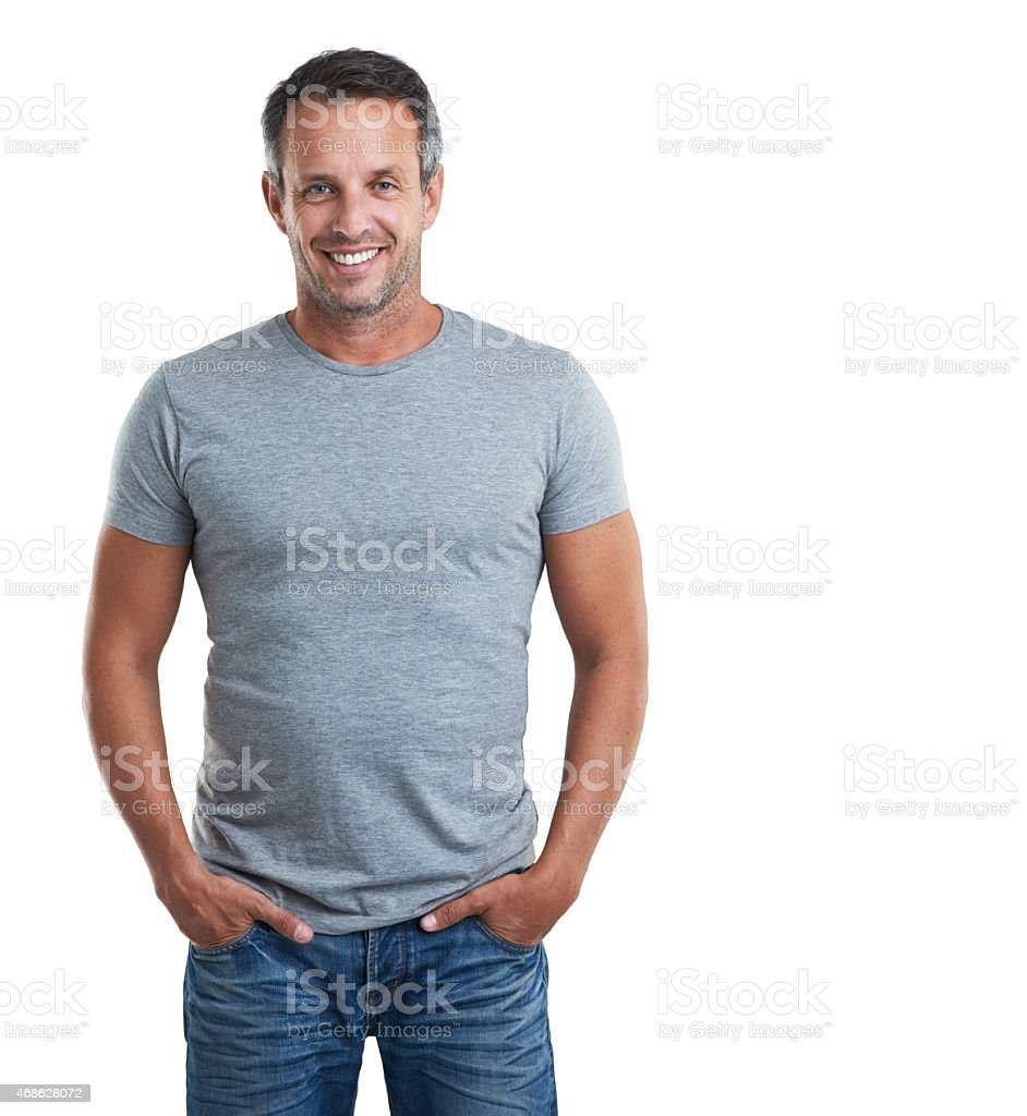 I've been working out. Can you tell? stock photo