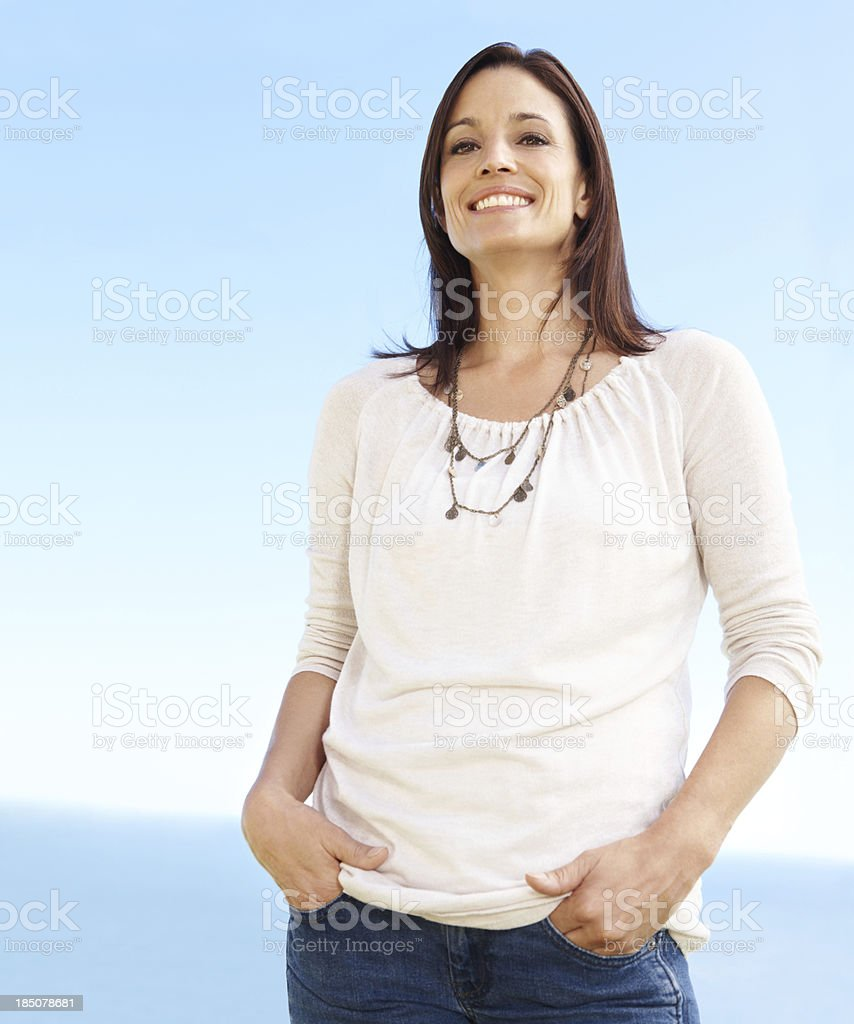 I've found my inner confidence over time royalty-free stock photo