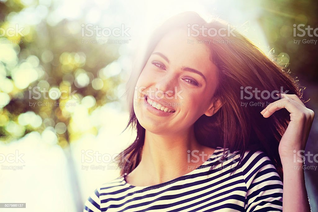I've got a lot to be happy about royalty-free stock photo