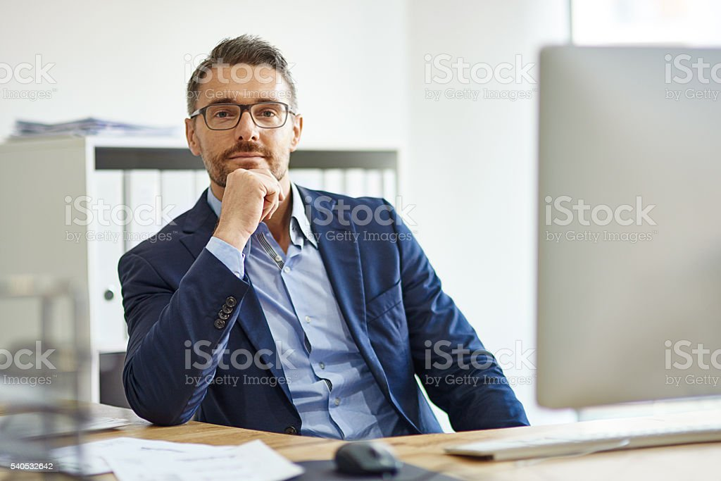 I've got an expanse of experience stock photo