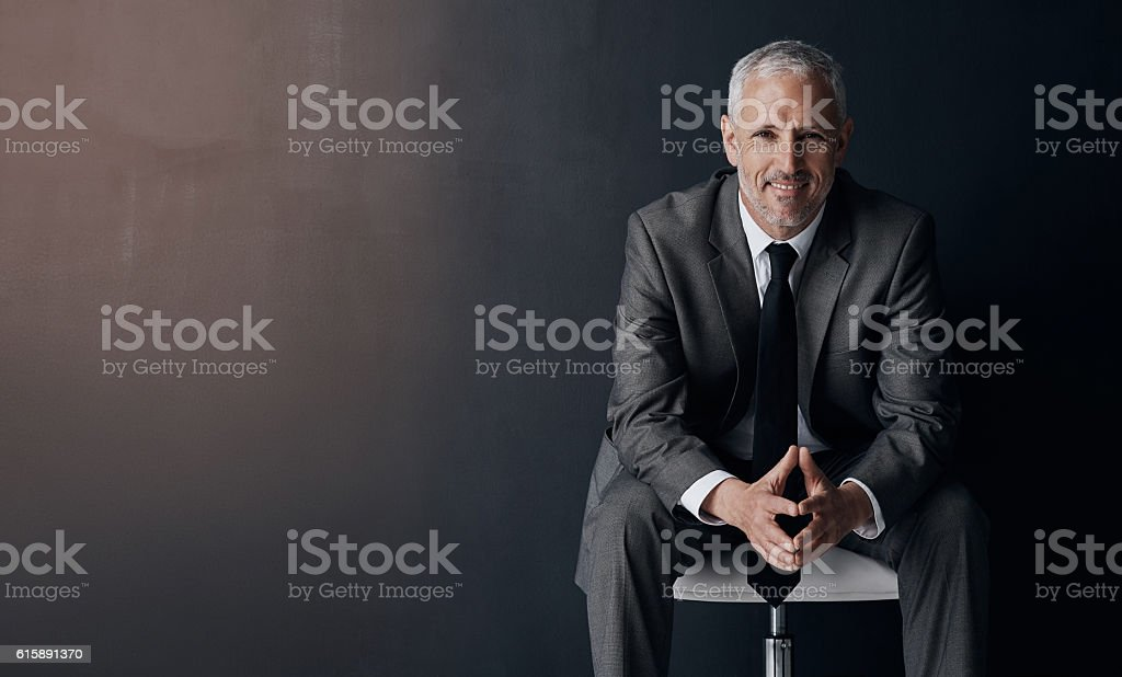 I've got complete assurance in my competence as a CEO stock photo
