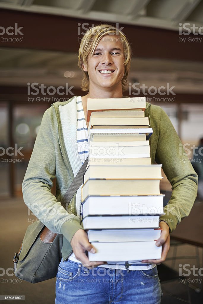 I've got my study material royalty-free stock photo