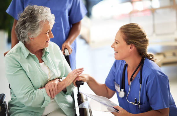 i've got some good news for you! - doctors and nurses stock photos and pictures