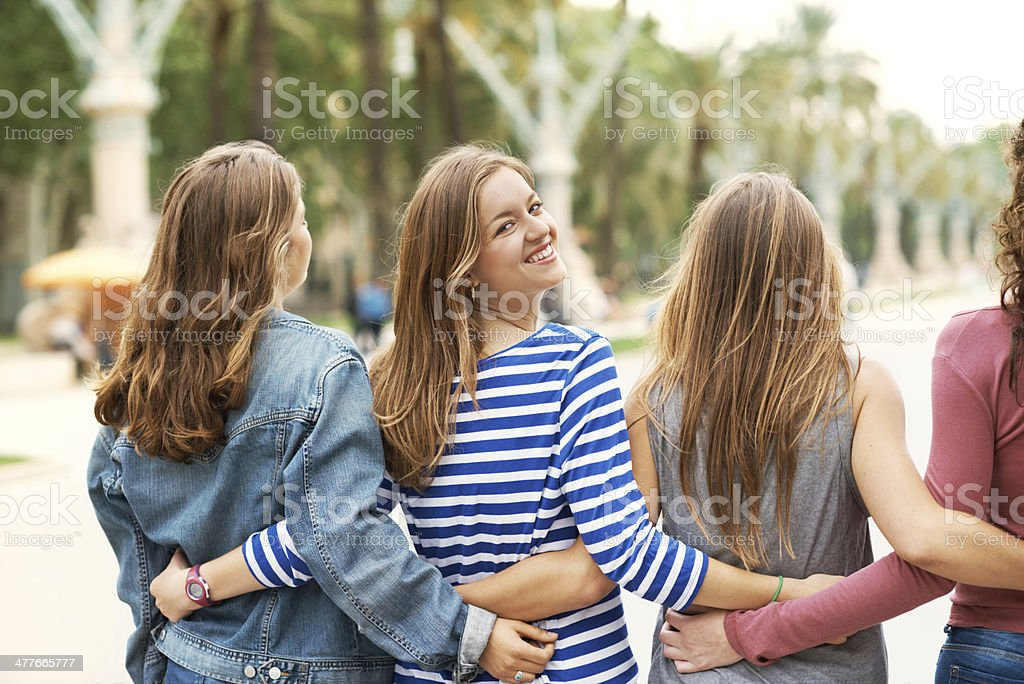 I've got such great friends! stock photo