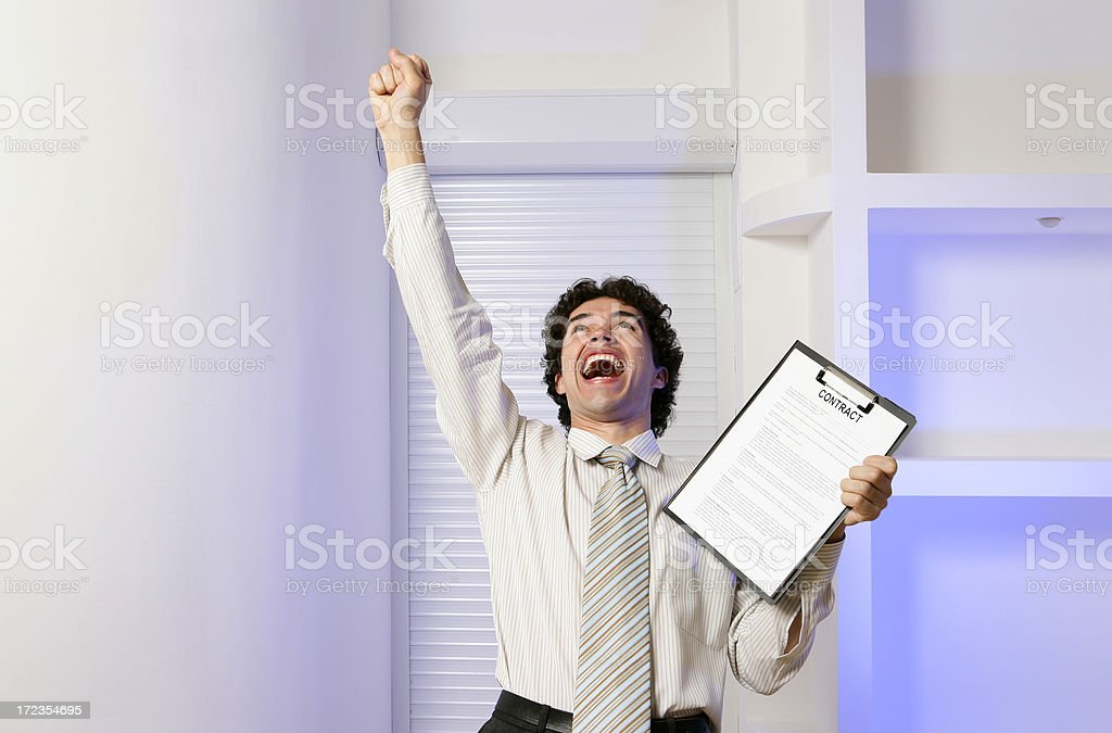 I've got this contract!!! royalty-free stock photo