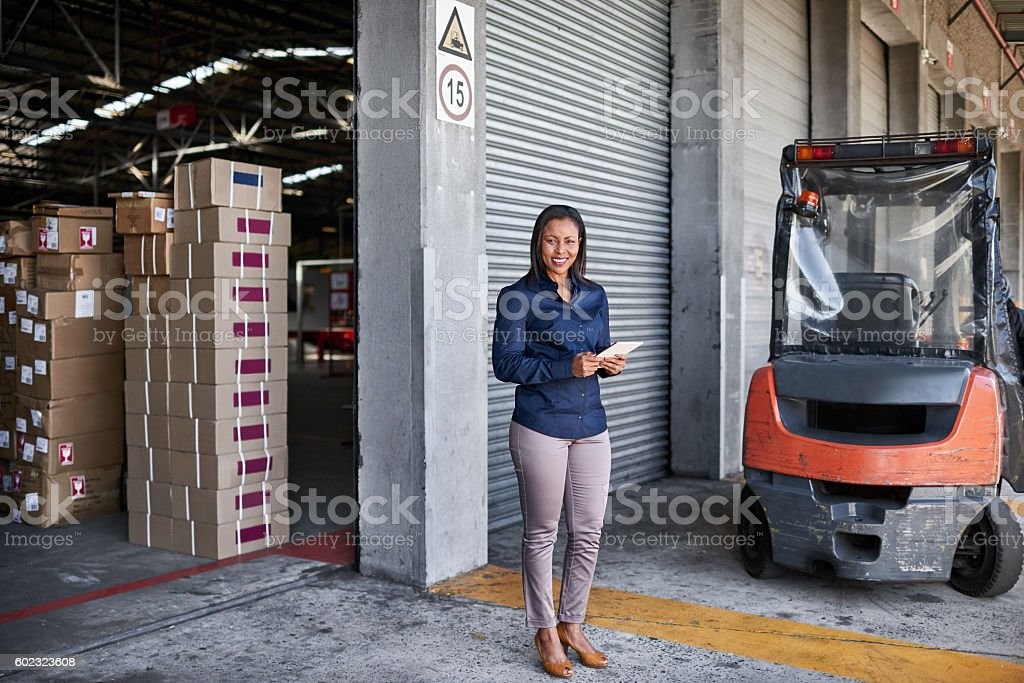 I've got this warehouse running perfectly stock photo